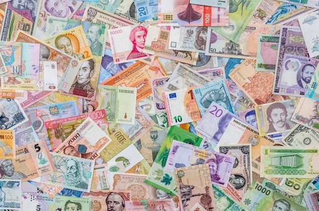 다양한 글로벌 지폐, 화폐 수집, 통화