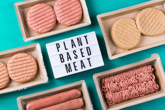 탄소 발자국을 줄이기위한 다양한 식물 기반 육류 식품