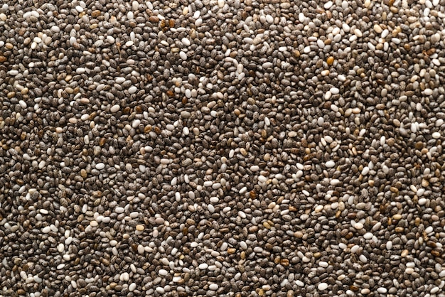 Variety of seeds top view background