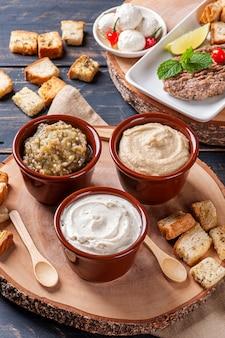 Variety of snacks from arab cuisine