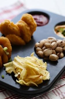 Variety of snacks