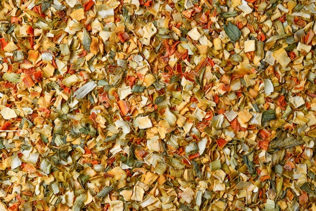 Variety of spices and herbs background