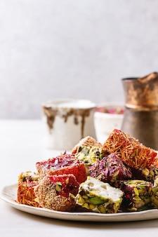 Variety of turkish delight