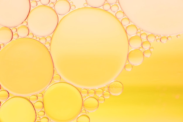 Variety of yellow abstract bubbles texture