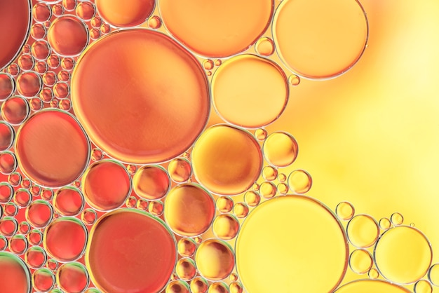 Various abstract yellow bubbles texture