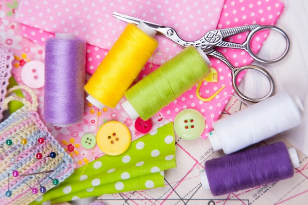 Various accessories for sewing needlework