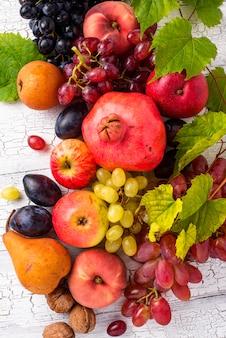 Various autumn fruits. harvest