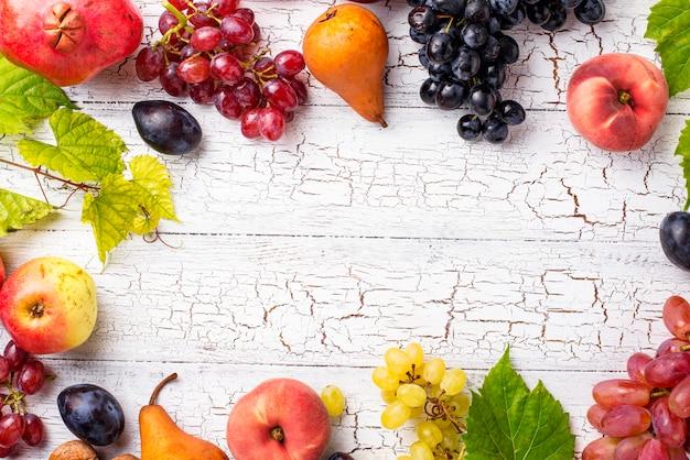 Various autumn fruits