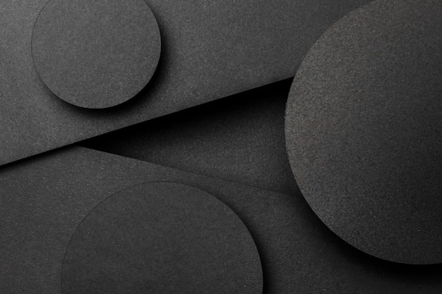 Various black triangles and circles background