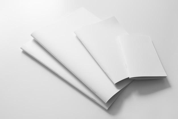 Various blank brochures