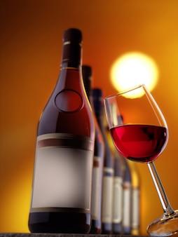 Различные бутылки вина