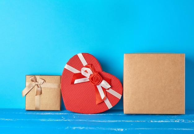 Various cardboard boxes