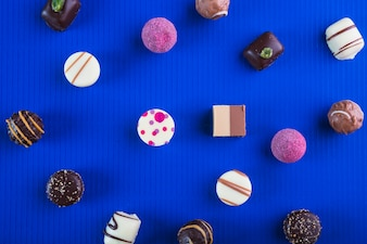 Various chocolate candies