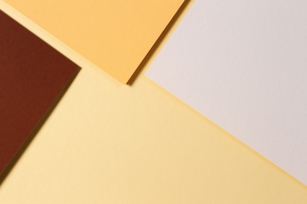 Various colorful paper sheets forming geometry composition