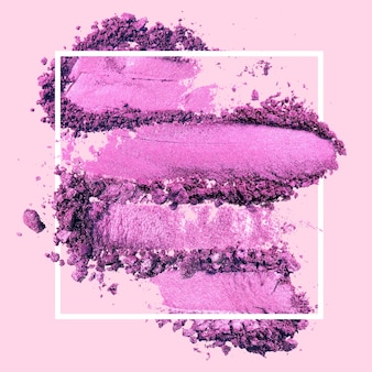 Various cosmetic purple fashion frame background