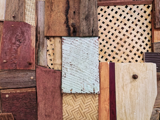 Various designs of wood paneling wall