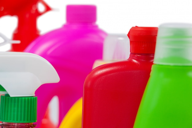Various detergent containers