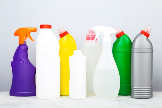 Various detergents and cleaning products