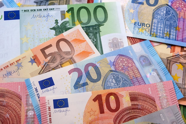 Various different euros background