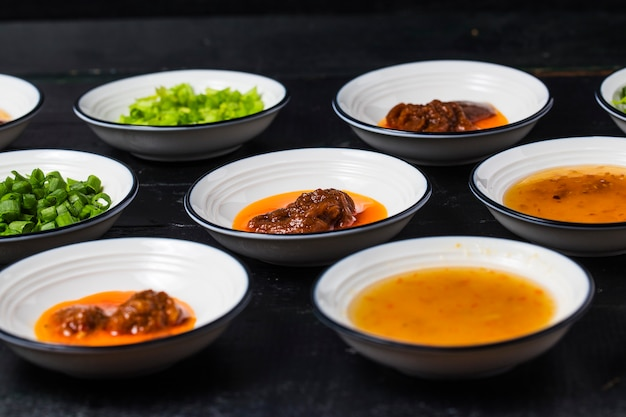 Various flavor sauces