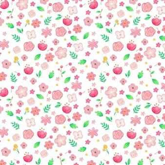 Изображение различных цветов и листьев