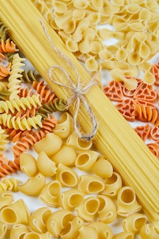 Various forms of pasta.
