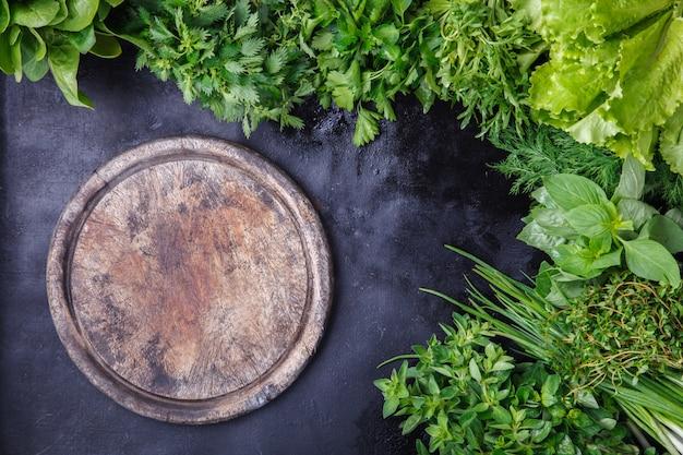 Various fresh herbs