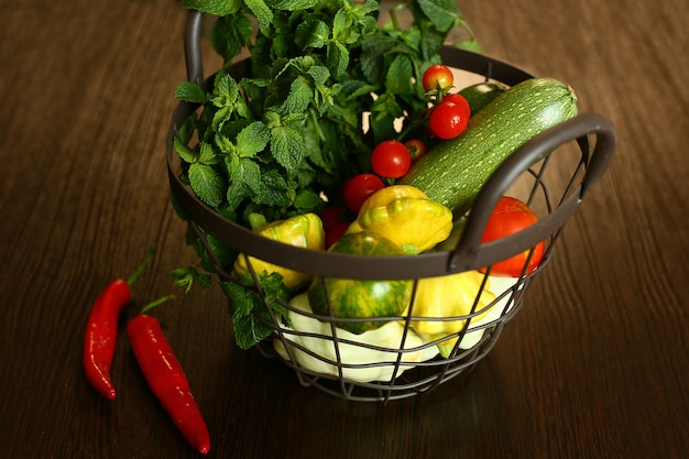 Various fresh vegetables ,fresh vegetables on the table