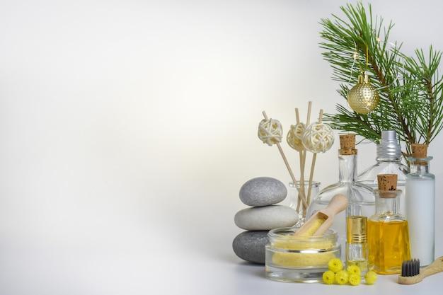 Различные предметы для спа-процедур и массажа