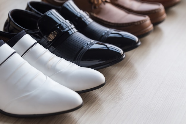 Various luxury shoes in the shop.