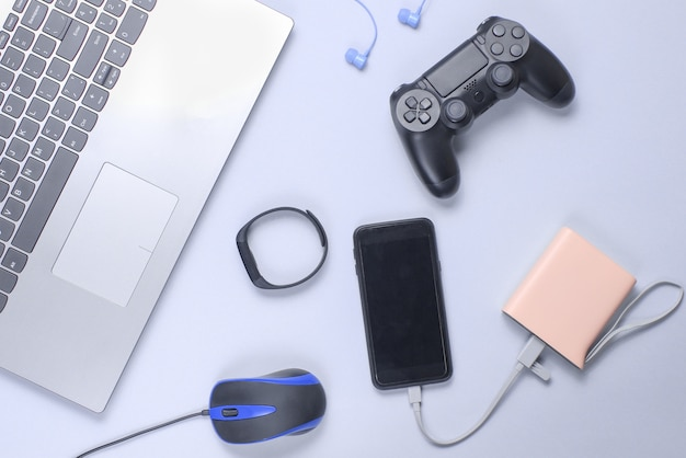 Various modern gadgets and devices