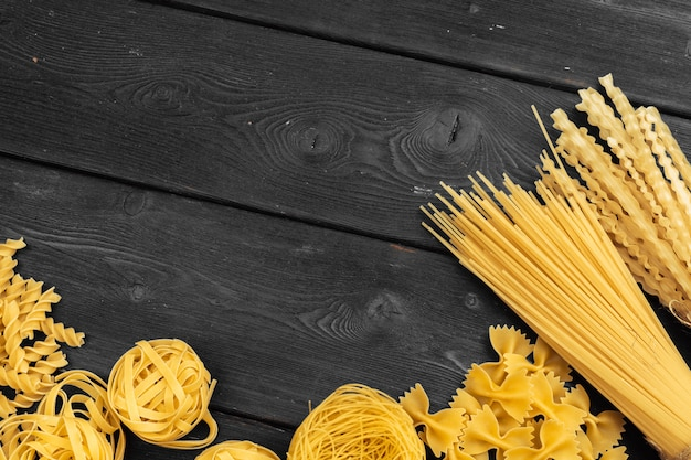 Various pasta. cooking concept.