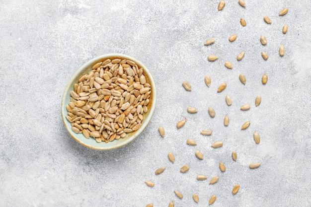 Various seeds - sesame, flax seed, sunflower seeds, pumpkin seeds for salads.