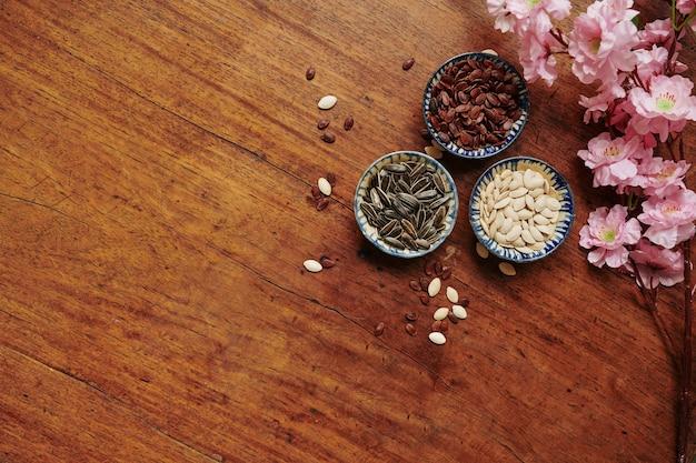 Various seeds for spring festival