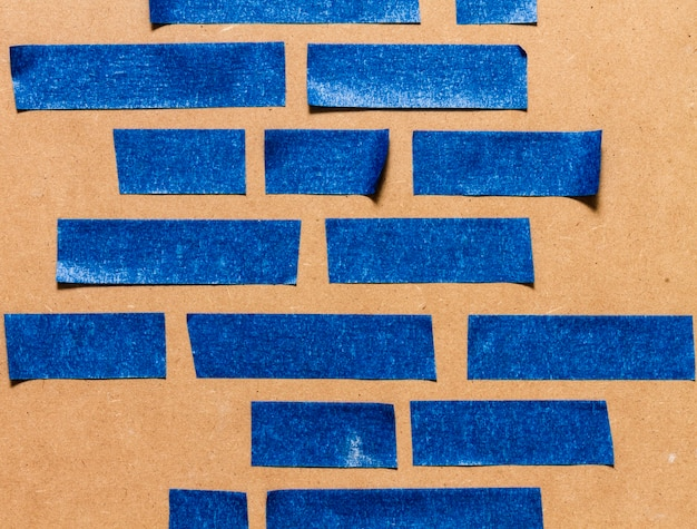 Vari formati di linee per carta da parati blu adesiva