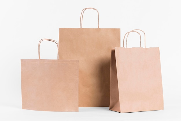 Various sizes paper carrier bags for shopping