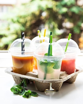Various summer cold drinks
