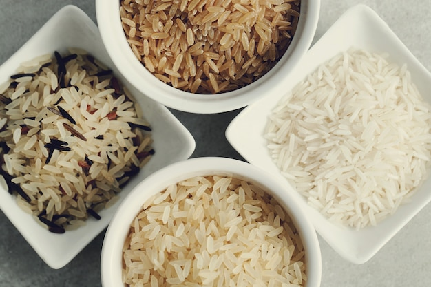 Various type of rice