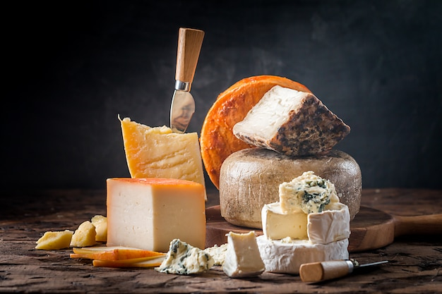 Various types of cheese