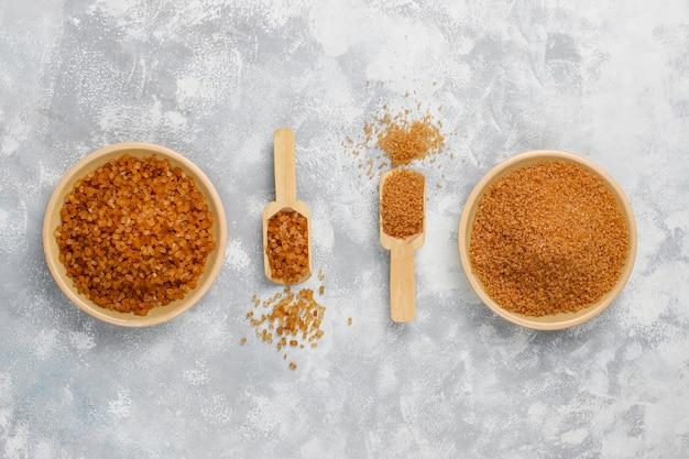 콘크리트, 평면도에 갈색 설탕의 다양한 유형