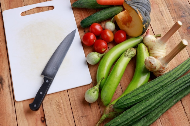 Various vegetables, spices and ingredients