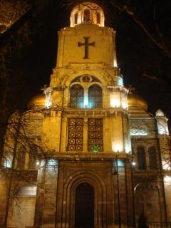 Varna cathedral at night