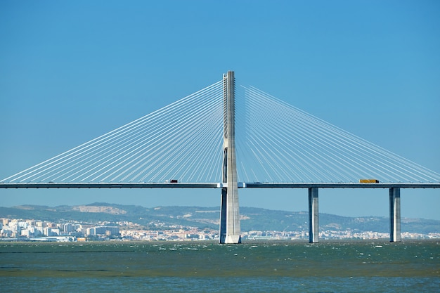Vasco da gama bridge in portugal