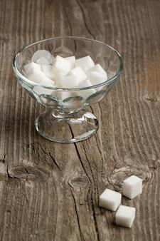 Vase of white sugar