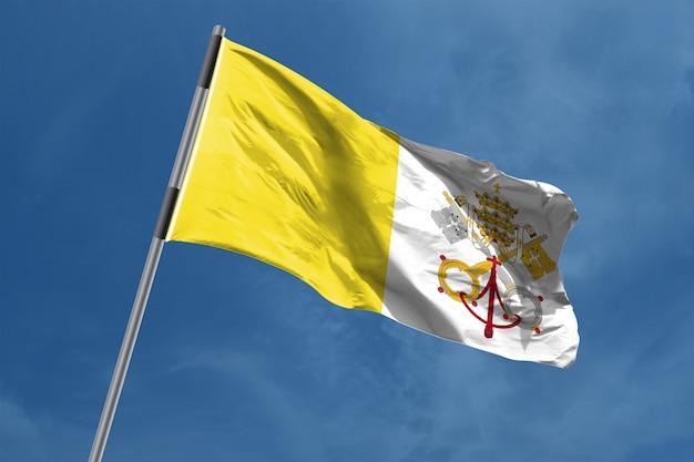 바티칸 시티 거룩한 참조 깃발을 흔들며