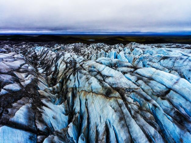 アイスランドのvatnajokullにあるsvinafellsjokull氷河。