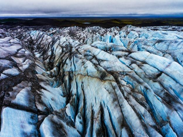 アイスランドのvatnajokullにあるsvinafellsjokull氷河