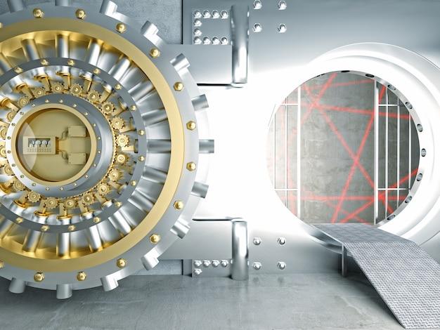 Vault and laser sensor
