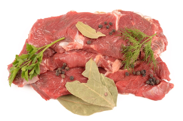 Veal isolated on white