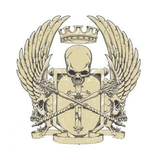 Vector crest t-shirt illustration